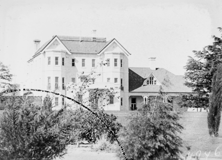 Government House, Southern Facade. Residence of the Govenor General, Yarralumla.