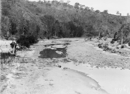 Murrumbidgee River during a drought and low river flows.