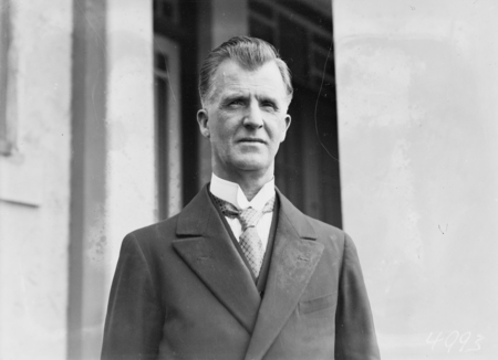 Opening of the 16th Parliament. Right Honourable JH Scullin, thirteenth Prime Minister.
