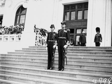 Opening of the 16th Parliament- Two Officers waiting on the Governor General's arrival at Parliament House