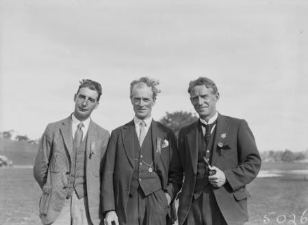 Highland Sports Day. Three unknown men.