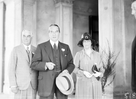 Second Conference of 65th District of Rotary. Delegates at Albert Hall. The Rt Hon Stanley Melbourne Bruce, Mrs Bruce and a member of the executive committee.