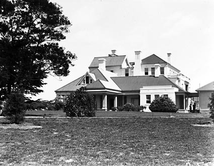 Government House - State entrance and porte cochere, Residence of the Governor General, Yarralumla