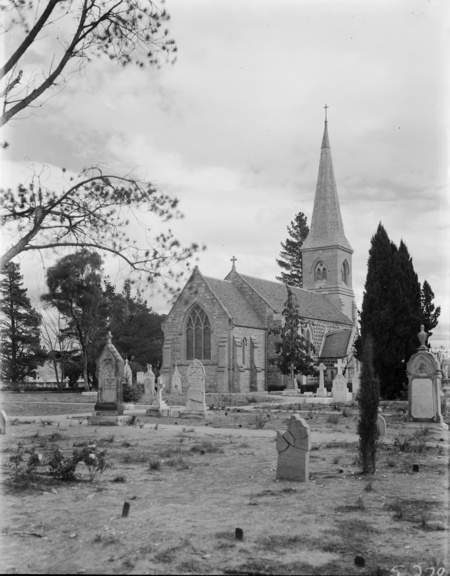 St Johns Church and graveyard, Constitution Avenue,  Reid,  from the east