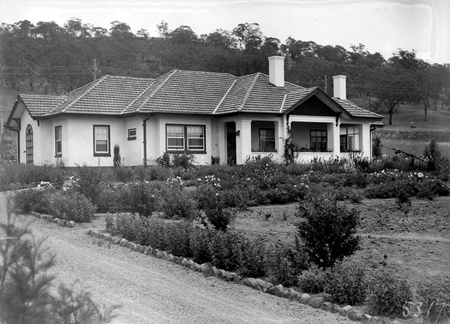 Home and garden of Mr. Harry Sheehan at 12 Mugga Way, Red Hill.