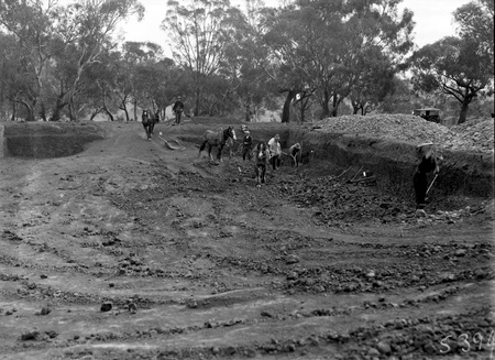 Excavation for the foundations  of the Australian Institute of Anatomy.McCoy Circle, Acton