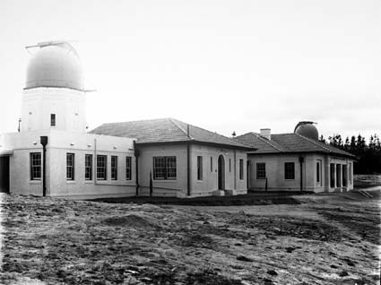Solar Tower,Commonwealth Observatory Buildings and the 6 inch Farnham Telescope on the right Mt Stromlo Observatory