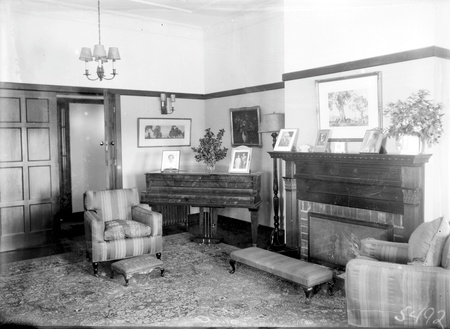 Sitting Room with grand piano, Prime Minister's Lodge, Adelaide Avenue, Deakin