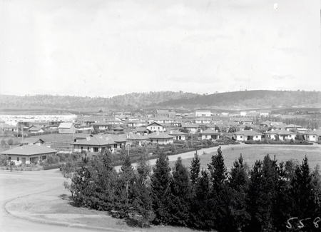 View of Kingston and Manuka from the Kingston  Power Station, Capital Theatre in the centre
