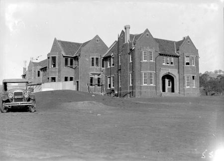 Church of England Boys Grammar School, under construction. Flinders Way, Red Hill