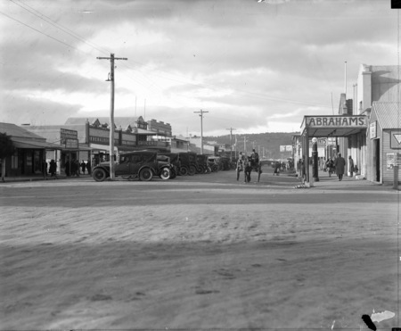 Left side of Monaro Street, Queanbeyan looking north from intersection of Monaro and Lowe Streets.