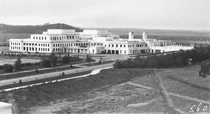 Rear of Parliament House from West Block Offices