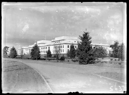 Front of Parliament House from north west.