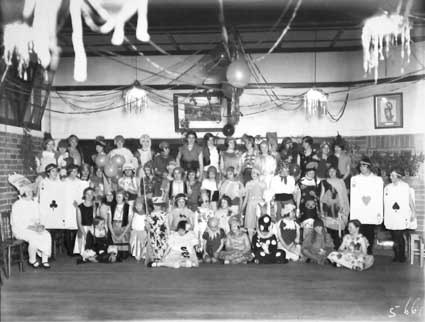 Group of competitors at Fancy Dress Ball at St Gabriel's Church of England Girls Grammar School. Melbourne Avenue,  Deakin