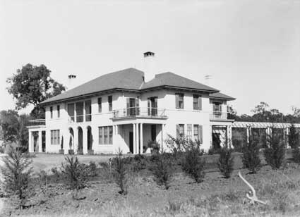 Prime Minister's Lodge, Adelaide Avenue,  Barton. From the north