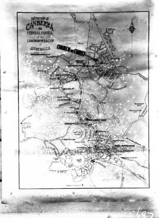 Copy of City plan showing Church of Christ site, Braddon