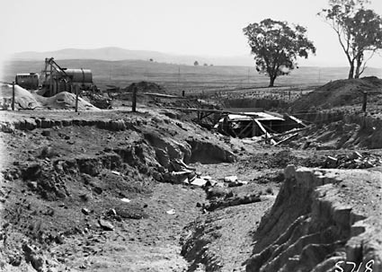 Excavations for road bridge, location unknown