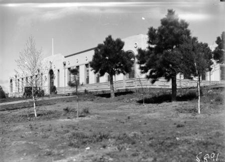 Western corner of the Australian Forestry School, Banks Street, Yarralumla.