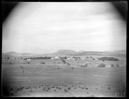 Government House and outbuildings, Govenor Generals Residence, Yarralumla, from the east, Molonglo River in front.