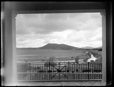 Black Mountain from Government House, Yarralumla, Molonglo River in front.