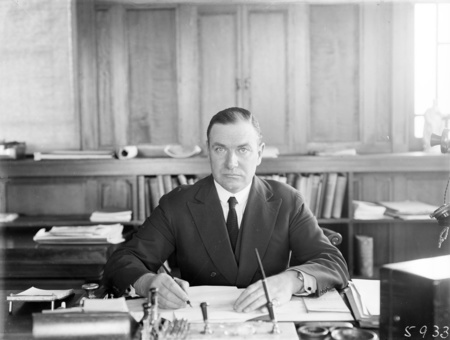 Sir John Butters in his office.