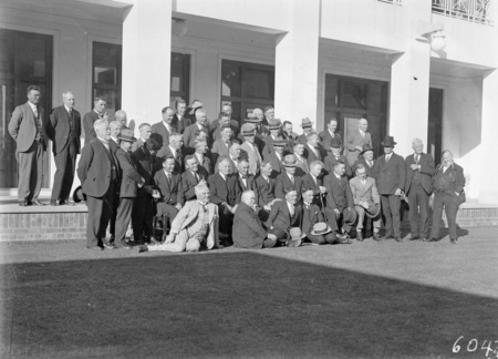 Labour members at Parliament House.