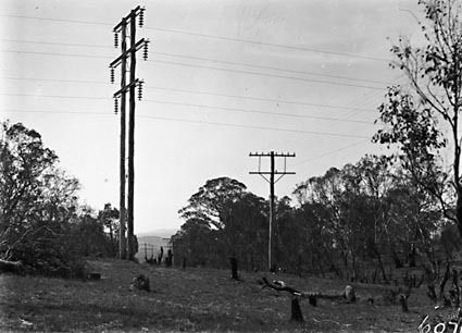 11 KV  Power transmission lines and telephone lines