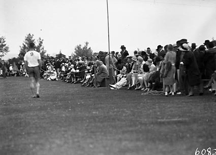 Spectators at the Royal Military College (RMC), Duntroon sports day.