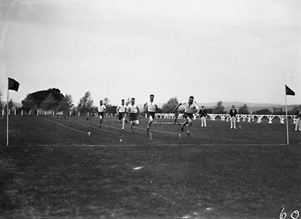 Royal Military College (RMC), Duntroon. Sports day: hundred yard race.