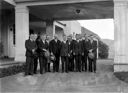 Scullin 16th Ministry,  Labor Cabinet at entrance to Government House,Yarralumla for swearing in