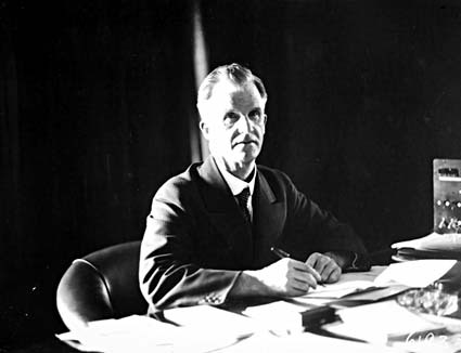 Portrait of Prime Minister James Henry  Scullin PC in his office