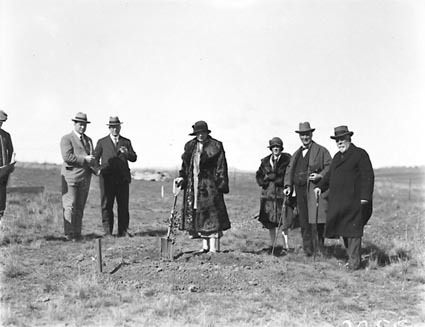 Tree planting ceremony by members of the Institute of Accountants