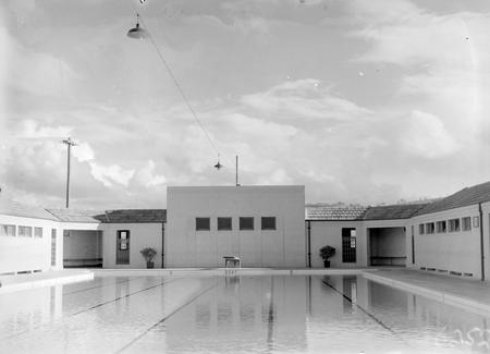 Manuka swimming pool, Manuka Circle, the deep end and springboard.