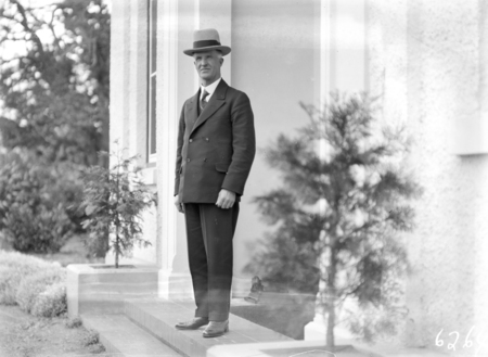 Prime Minister Rt Hon J.H. Scullin at Government House, Yarralumla.