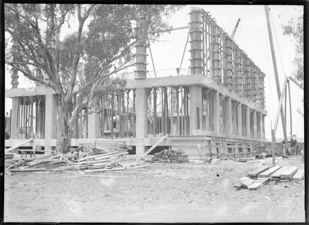 Australian Institute of Anatomy under construction. McCoy Circle, Acton.