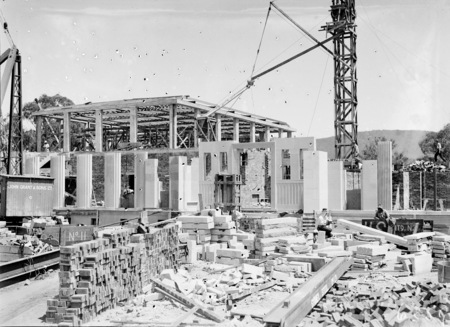 Australian Institute of Anatomy under construction. McCoy Circle, Acton