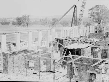 Australian Institute of Anatomy under construction. McCoy Circle, Acton