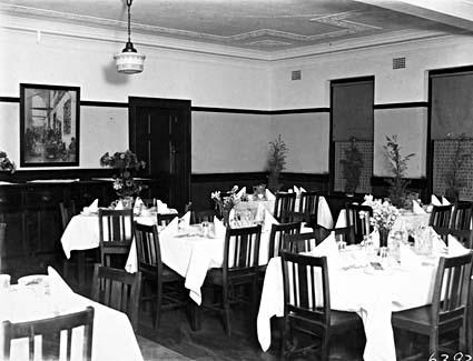Brassey House dining room, Macquarie Street, Barton