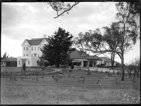 Government House, Yarralumla, Residence of the Govenor General, from south east.