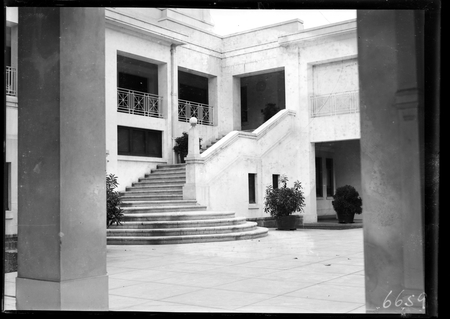 Rear stairway to inner courtyard at Parliament House.