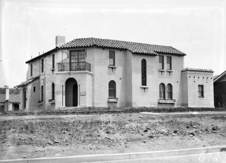 House on the corner of Furneaux Street and Bougainville Street, Manuka. Designed by Ken Oliphant, occupied by Eric Harvey, dentist.