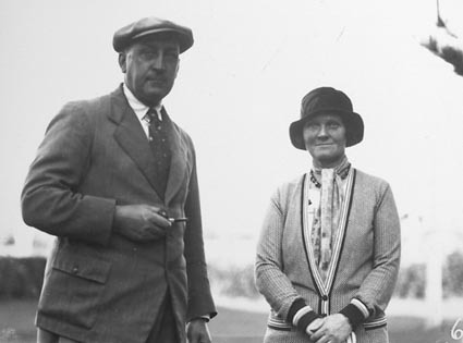 Canberra Golf Course   Unknown lady and gentleman