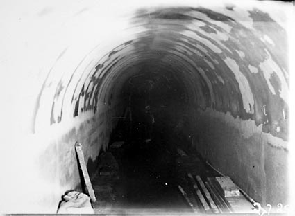Sewerage tunnel under the Molonglo River