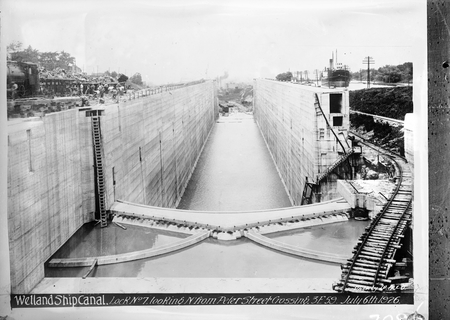 Copy of picture of a Lock on the Welland Ship Canal.