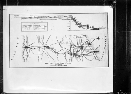 Copy of map of Welland Ship Canal on Lake Ontario, USA [Province of Ontario, in Canada].