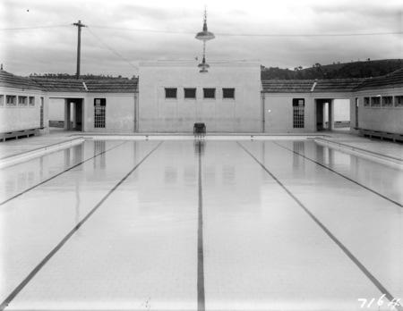 Manuka Swimming Pool, from the shallow end. Manuka Circle, Kingston.