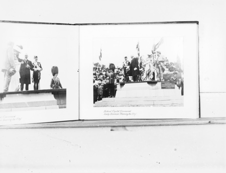 "Photo of Federal Capital Ceremonial, Lady Denman ""Naming the City"", 1913."