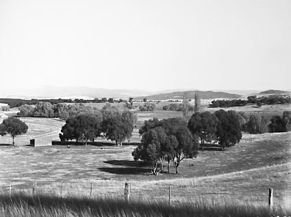 View of Acton race course and Molonglo River from Canberra Community Hospital