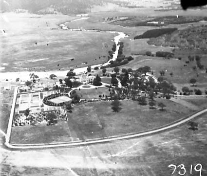 Aerial Photograph of Government House, Residence of the Govenor General , Yarralumla. Molonglo River behind