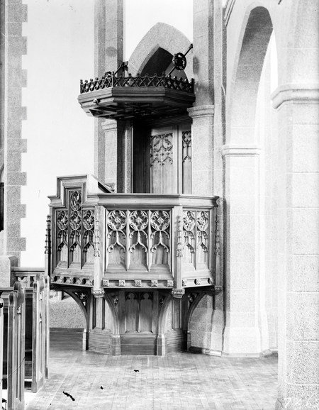 Pulpit of St Andrew's Presbyterian Church, State Circle, Forrest.